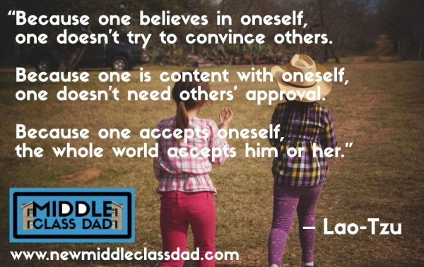 confidence building activities for kids Middle Class Dad Lao Tzu quote meme