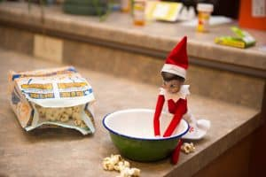 elf on the shelf mischievous ideas Middle Class Dad Elf on the Shelf making a midnight snack