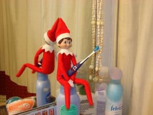 elf on the shelf mischievous ideas Middle Class Dad Elf on the Shelf brushing teeth in the bathroom