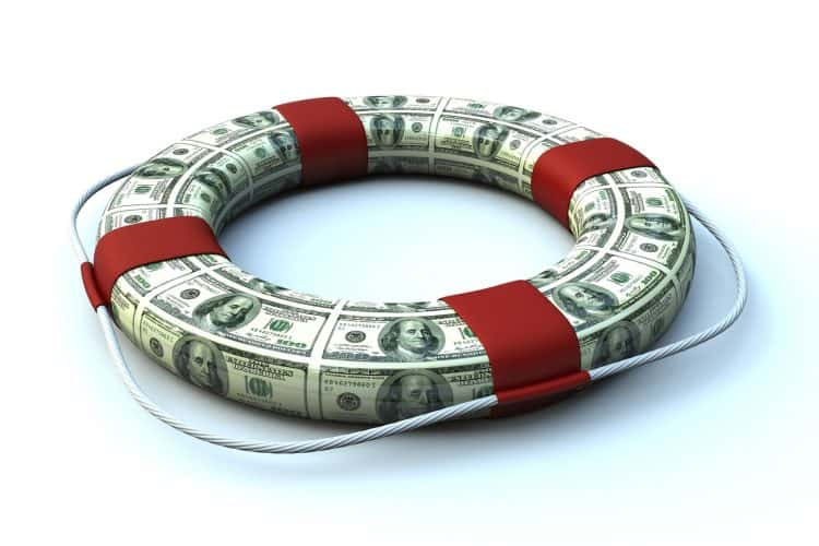 dave ramsey emergency fund Middle Class Dad Lifebuoy made out of dollar bills