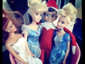 elf on the shelf mischievous ideas Middle Class Dad Elf on the Shelf flirting with Barbie dolls