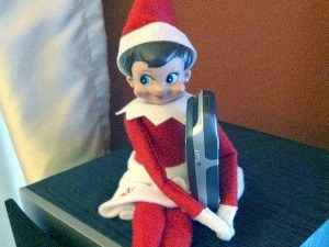 elf on the shelf mischievous ideas Middle Class Dad Elf on the Shelf using a cell phone