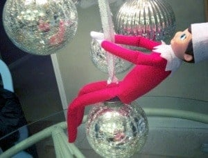 elf on the shelf mischievous ideas Middle Class Dad Elf on the Shelf riding a wrecking ball like Miley Cyrus