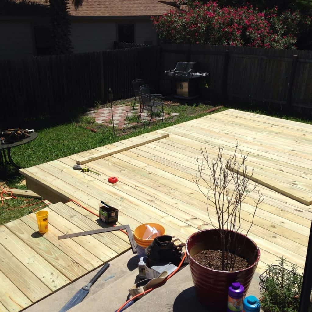 deck finished without stain how to build a deck step by step with pictures Middle Class Dad