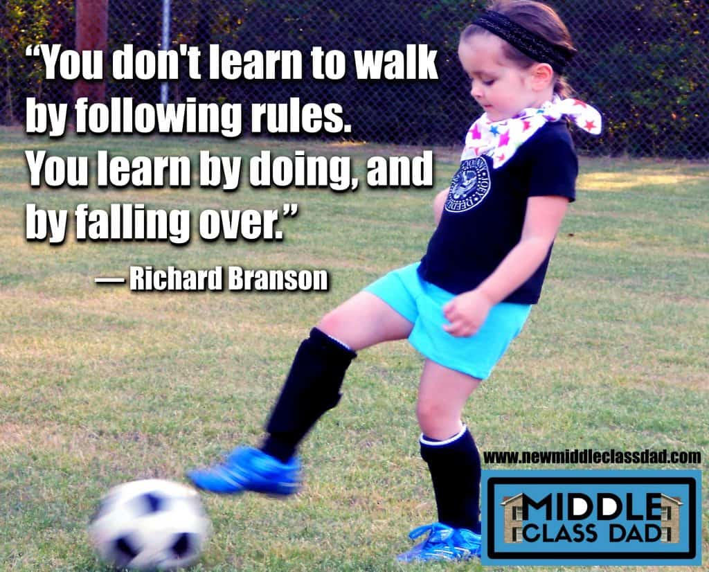 Richard Branson quote overcoming fear of failure Middle Class Dad