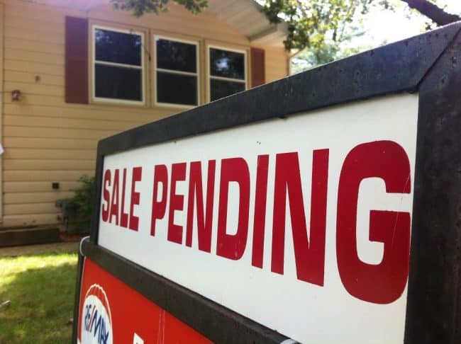 sale pending sign steps to buying a house for the first time Middle Class Dad