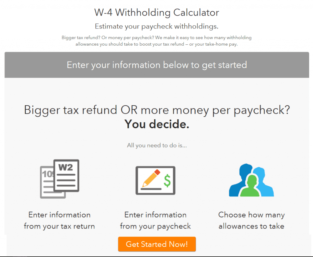 paycheck withholding calculator