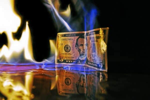 life insurance tips and advice Middle Class Dad a five dollar bill on fire