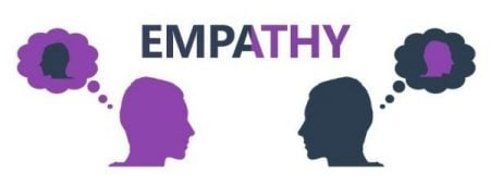7 stages of a healthy relationship Middle Class Dad purple graphic with the word empathy