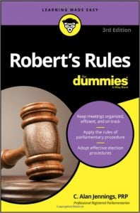 Middle Class Dad meeting ground rules for facilitators Robert's Rules for Dummies book