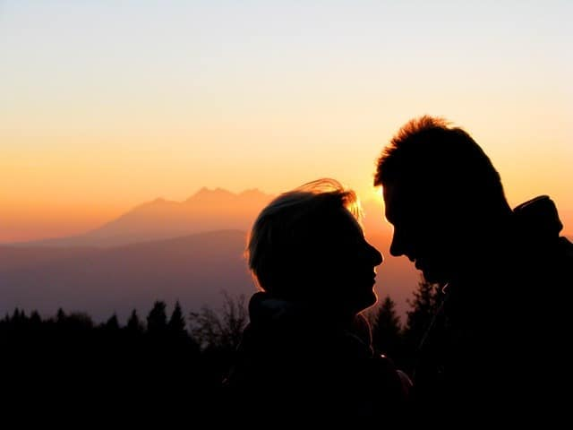 couple at sunset with mountains in the background Middle Class Dad top reasons for divorce statistics