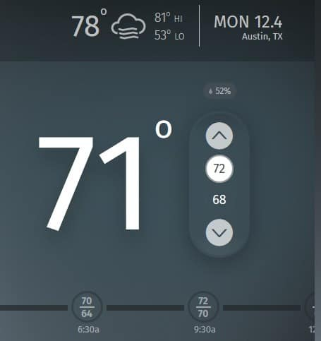 sensi thermostat review Middle Class Dad temp