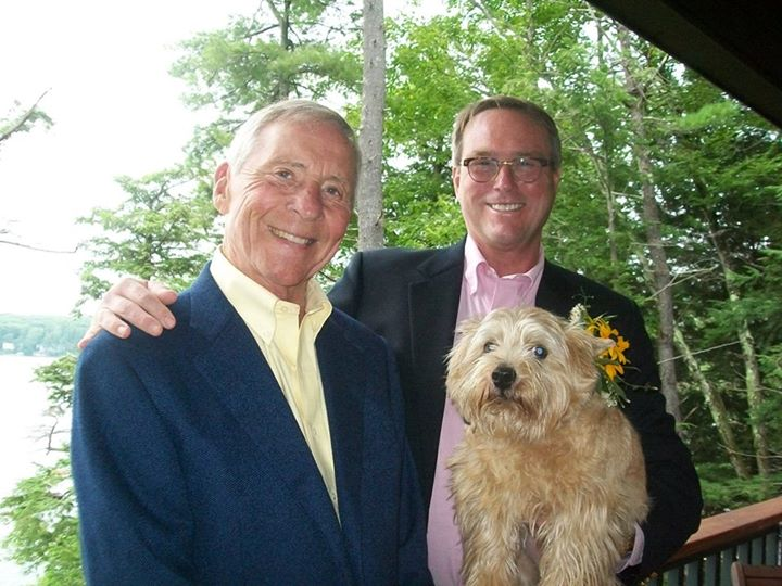 gay father Middle Class Dad JT Campbell Jr and Tom Duke on their wedding day