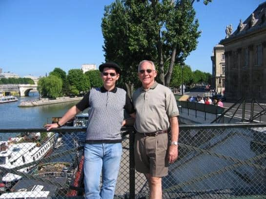 gay father Middle Class Dad JT Campbell Jr and Jeff Campbell in Paris in 2002