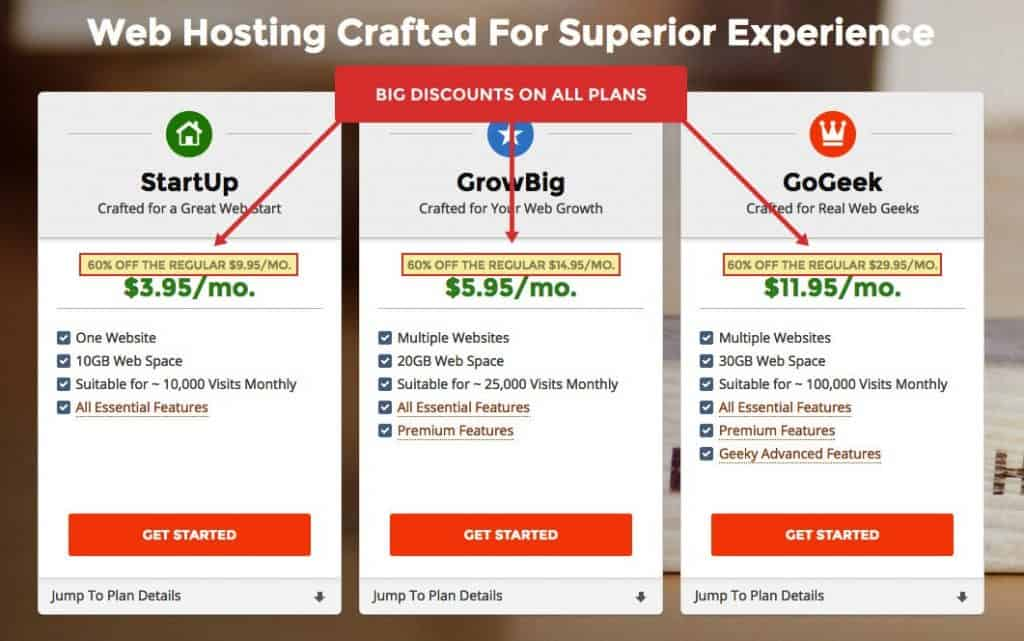 SiteGround pricing and web hosting review pricing plans Middle Class Dad