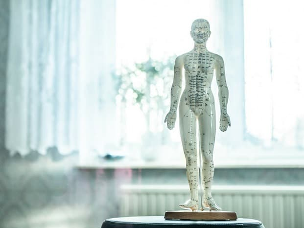 how to cure allergies naturally Middle Class Dad acupuncture statue in a white room