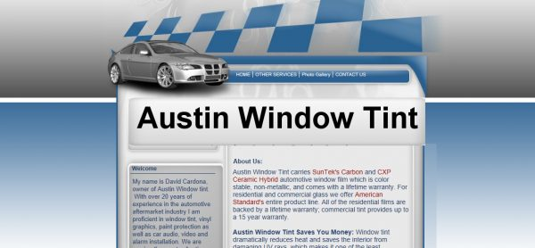 DIY SEO tools Austin Window Tint old website Middle Class Dad