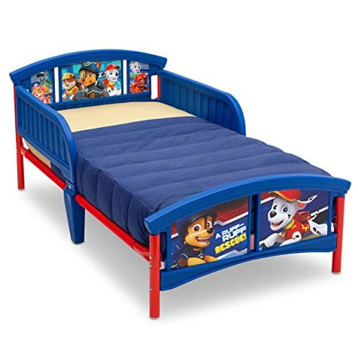 Delta Children Plastic Toddler Bed, Nick Jr. PAW Patrol best mattress for kids Middle Class Dad