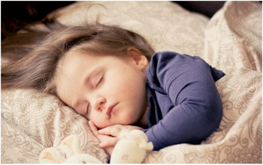 little girl sleeping middle class dad