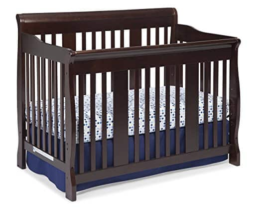 Stork Craft Tuscany 4-in-1 Convertible Crib, Espresso best mattress for kids Middle Class Dad