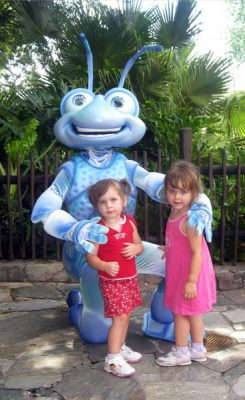 Campbell girls with Flick at Walt Disney World's Animal Kingdom FastPass+ Ride list