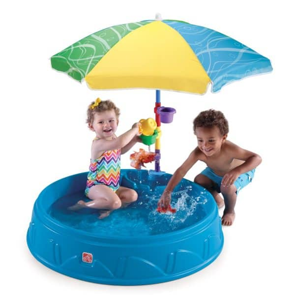 baby's first birthday ideas baby pool with umbrella middle class dad