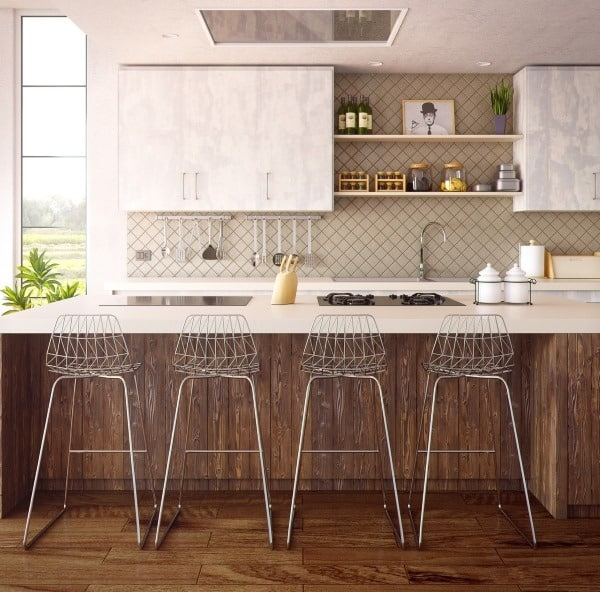 eco-friendly remodeling modern kitchen and bar stools middle class dad