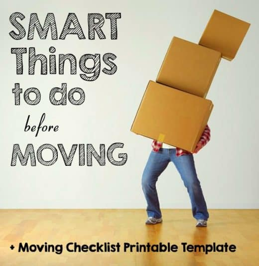 Guy carrying too many moving boxes about to drop them Smart Things to do Before Moving + + Moving Checklist Printable Template Middle Class Dad