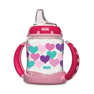 Middle Class Dad best sippy cups for breastfed babies NUK Fashion Hearts Learner Cup