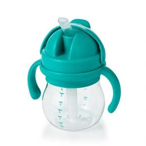 Middle Class Dad best sippy cups for breastfed babies Middle Class Dad OXO Tot Transitions Straw Cup in teal
