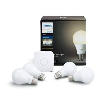 Philips Hue White A19 60W Equivalent LED Smart Bulb Starter Kit (4 A19 White Bulbs and 1 Hub Compatible with Amazon Alexa Apple HomeKit and Google Assistant) Middle Class Dad ecobee3 vs 4 vs ecobee3 Lite