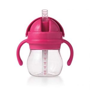 Middle Class Dad best sippy cups for breastfed babies OXO Tot Transitions Straw Cup in pink