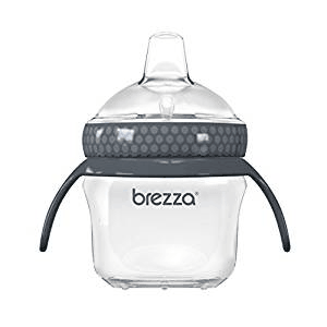 Middle Class Dad best sippy cups for breastfed babies Middle Class Dad Baby Brezza Transition Sippy Cup with Handles in grey