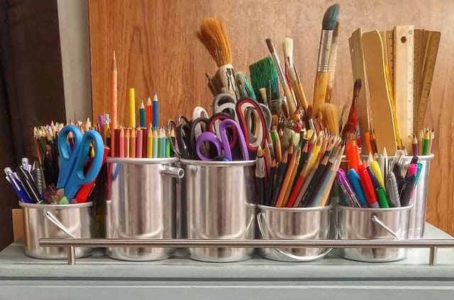 charter schools vs public schools statistics tin cups holding school supplies - scissors, pencils, brushes and markers Middle Class Dad