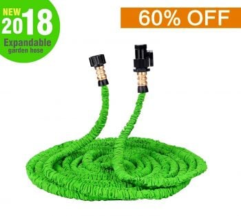 Wingogh Expandable Garden Hose - 50ft Expanding Pressure Garden Water Hose, Brass Fitting & Triple Layer Latex Core & Latest Improved Extra Strength Fabric Protection for All Your Watering Needs Middle Class Dad Best Expandable Garden Hose