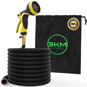 Garden Hose - 100 ft Heavy Duty Expandable - Premium Flexible & Expanding - 9-Pattern High-Pressure Water Spray Nozzle & Bag - No Kink Tangle-Free Lawn & Plant Watering -Triple Layer & Brass connector Middle Class Dad Best Expandable Garden Hose