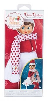 elf on the shelf mischievous ideas Middle Class Dad Elf on The Shelf Snowflake Skirt & Scarf on Amazon Prime