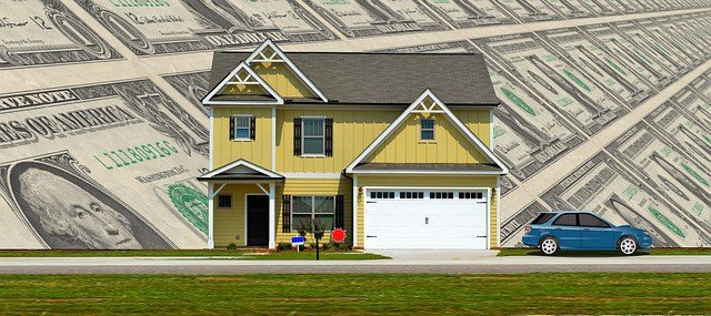 budget for family of 4 making 60K artist rendering of a middle class house and car with a sky of dollar bills in the background Middle Class Dad