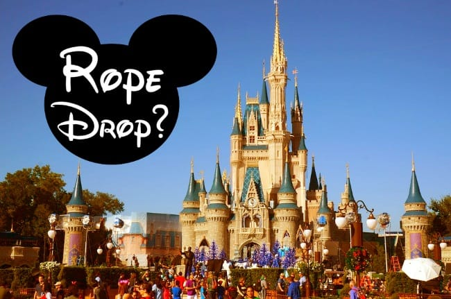 What is Rope Drop at Disney World?
