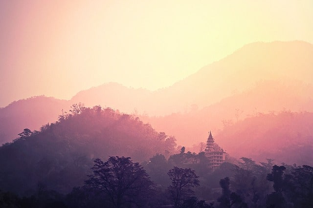 what is trekking all about? Middle Class Dad sunset view of mountains in Rishikesh India